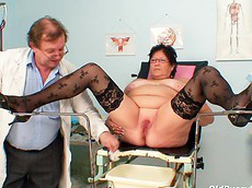close-up, stockings, chubby, mature, doctor, fat