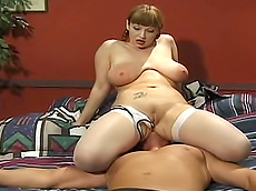 tattoo, stockings, handjob, chubby, smothering, domination