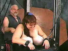 curvy, pain, spanking, fat, dungeon, old farts, HD, guillotine