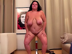 Renate Zug - big tits, shaved pussy, fat, bizarre, HD, masturbation