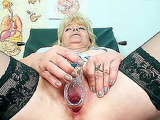 Josefina - blonde, stockings, toys, nurses, medical, fat