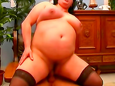 Leslie - blowjob, on top, doggy style, facial, fatty