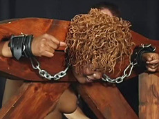 ebony, spanking, fat, sex, hanging, shackles